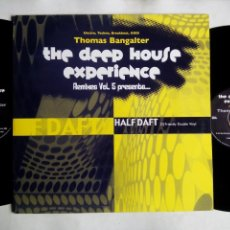 Discos de vinilo: THOMAS BANGALTER. THE DEEP HOUSE EXPERIENCE. REMIXES VOL. 5. PRESENTS HALF DAFT. DOBLE LP. USA.. Lote 229069595