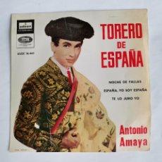 Discos de vinilo: TORERO DE ESPAÑA ANTONIO AMAYA EP 1961. Lote 229072420