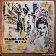 Discos de vinilo: DISCO EP DE CANCIÓN ESPAÑOLA. COPLA. MARISEL.MARUJITA DÍAZ. DANIEL MONTORIO. MONTILLA. Lote 295378418