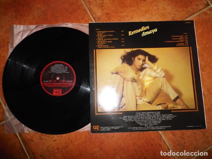 Discos de vinilo: REMEDIOS AMAYA Luna nueva LP VINILO DEL AÑO 1983 QUIEN MANEJA MI BARCA EUROVISION ESPAÑA 1983 - Foto 2 - 229093195