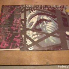 Discos de vinilo: JACKSON BROWN LP LIVES IN THE BALANCE ESP.1986. Lote 229096710