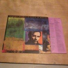 Discos de vinilo: JACKSON BROWN LP WORLD IN MOTION UK 1989. Lote 229097025