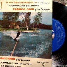 Discos de vinil: SURF! SI TUVIERA UN MARTILLO CRISTÓFORO COLOMBO FRANCO GODI ENRICO RICCARDI 1963. Lote 229108775