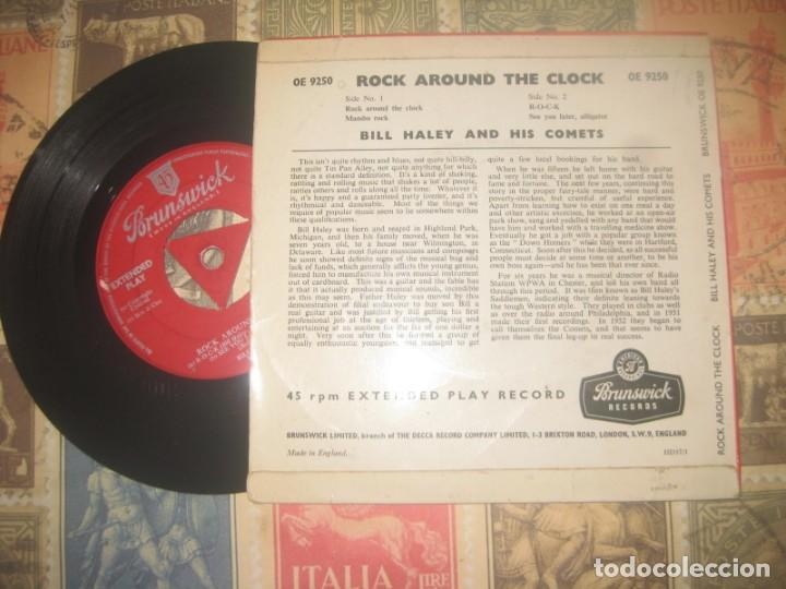 Discos de vinilo: BILL HALEY AND THE COMETS Rock around the clock (brunswick-1956) og england - Foto 2 - 229148735