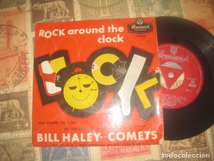 BILL HALEY AND THE COMETS ROCK AROUND THE CLOCK (BRUNSWICK-1956) OG ENGLAND (Música - Discos de Vinilo - EPs - Rock & Roll)