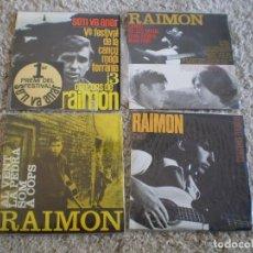 Discos de vinilo: 4 SINGLES RAIMON. AÑOS 60. BUENA CONSERVACION. Lote 229181445