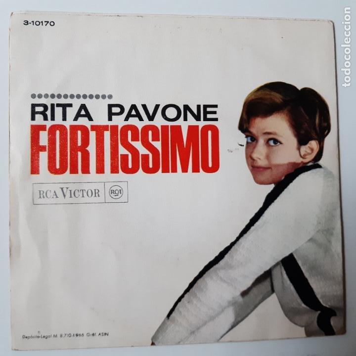 Discos de vinilo: RITA PAVONE - LA SAI TROPPO LUNGA- SPAIN SINGLE 1966. - Foto 2 - 229184135