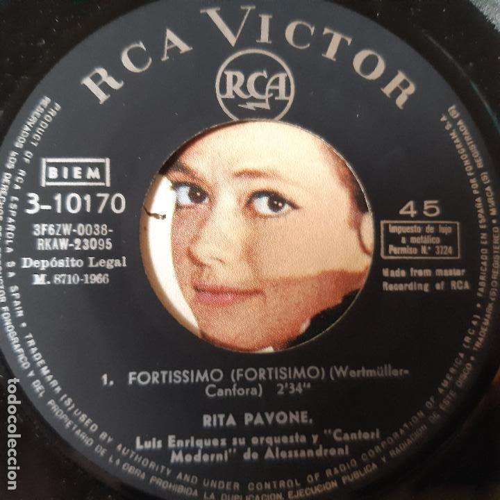 Discos de vinilo: RITA PAVONE - LA SAI TROPPO LUNGA- SPAIN SINGLE 1966. - Foto 3 - 229184135
