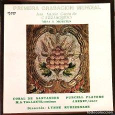 Discos de vinilo: JUAN ANTONIO GARCIA DE CARRASQUEDO MISA Y MOTETES DISCO. Lote 229195675