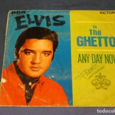 Discos de vinilo: EXPROBS1 DISCO 7 PULGADAS ESTADO VINILO ACUSA TUTE ELVIS PRESLEY IN THE GHETTO. Lote 229215970