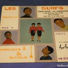 Discos de vinilo: EXPROBS1 DISCO 7 PULGADAS ESTADO VINILO BUENO LES SURFS SHOOP SHOOP... VA L'EMBRASSER. Lote 229230665