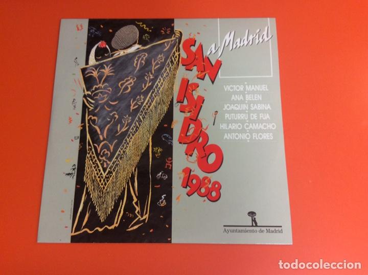 Discos de vinilo: LP VINILO SAN ISIDRO 1988- ANTONIO FLORES-JOAQUÍN SABINA-VÍCTOR MANUEL- ANA BELÉN... - Foto 2 - 224790087