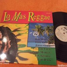 Discos de vinilo: LO MÁS REGGAE RECOPILACIÓN LP 1992. Lote 229234780