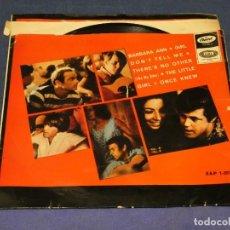 Discos de vinilo: EXPROBS1 DISCO 7 PULGADAS ESTADO VINILO ACUSA TUTE THE BEACH BOYS BARBARA ANN. Lote 229235390