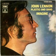 Discos de vinilo: JOHN LENNON PLASTIC ONO BAND - IMAGINE - SG SPAIN 1971 - ODEON 1J 006-04.940. Lote 229247130