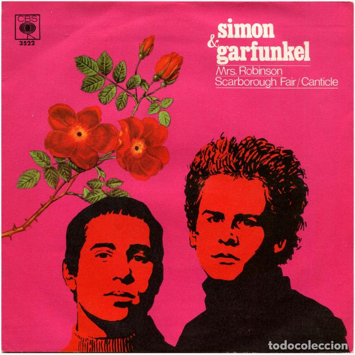 SIMON & GARFUNKEL - MRS. ROBINSON - SG SPAIN 1968 - CBS 3522 (Música - Discos - Singles Vinilo - Bandas Sonoras y Actores)