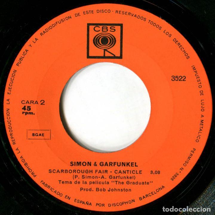 Discos de vinilo: Simon & Garfunkel - Mrs. Robinson - Sg Spain 1968 - CBS 3522 - Foto 4 - 229254910