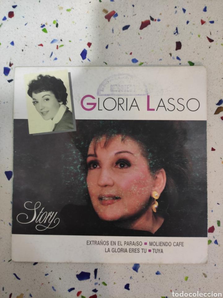 GLORIA LASSO E P EXTRAÑOS EN EL PARAÍSO (Música - Discos de Vinilo - EPs - Solistas Españoles de los 70 a la actualidad)