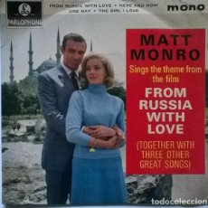 Discos de vinilo: MATT MONRO. FROM RUSSIA WITH LOVE (BSO)/ HERE & NOW/ ONE DAY/ THE GIRL I LOVE. PARLOPHONE, UK 1963. Lote 229258610