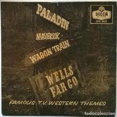 Discos de vinilo: HILL BOWEN FAMOUS T.V. WESTERN THEMES BSO: WELLS FARGO/ MAVERICK/ WAGON TRAIN/ PALADIN DECCA UK 1960. Lote 229259215