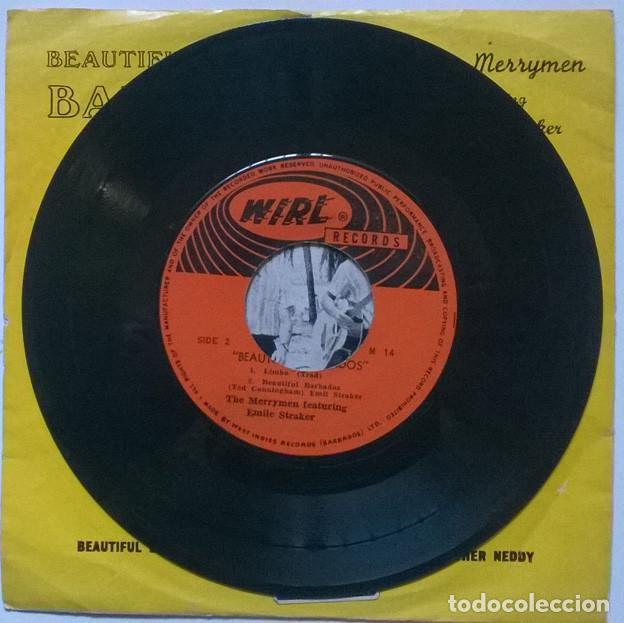 Discos de vinilo: The Merrymen featuring Emile Straker: Beautiful Barbados. Yellow bird/ Britgher Neddy/ Limbo Jamaica - Foto 4 - 229260080