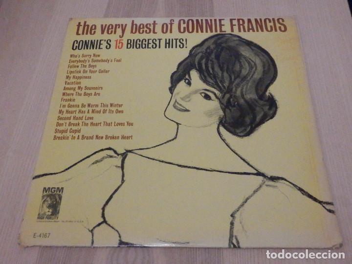 LP - THE VERY BEST OF CONNIE FRANCIS - 15 ÉXITOS - MGM 1963 - RARO (Música - Discos - LP Vinilo - Pop - Rock Internacional de los 50 y 60)