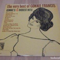 Discos de vinilo: LP - THE VERY BEST OF CONNIE FRANCIS - 15 ÉXITOS - MGM 1963 - RARO. Lote 229269330