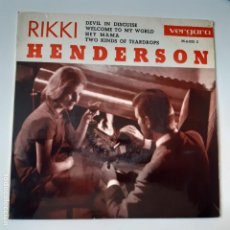Discos de vinilo: RIKKI HENDERSON- DEVIL IN DISGUISE- SPAIN EP 1963- EXC. ESTADO.. Lote 229303005