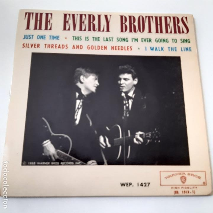 THE EVERLY BROTHERS- JUST ONE TIME - FRANCE EP 1963 + TRICENTRE - VINILO CASI NUEVO. (Música - Discos de Vinilo - EPs - Rock & Roll)