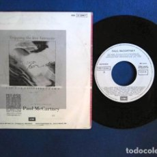 Discos de vinilo: BEATLES PAUL MCCARTNEY SINGLE PROMOCIONAL EMI ODEON CONTRAPORTADA IMPRESA ANUNCIO. Lote 229317200