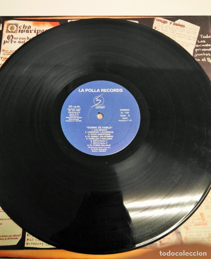 Discos de vinilo: La Polla Records – Donde Se Habla - Foto 5 - 229317445