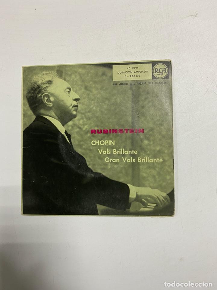 ARTURO RUBINSTEIN - CHOPIN. VALS BRILLANTE. GRAN VALS BRLLANTE. MADRID, 1959. (Música - Discos - Singles Vinilo - Clásica, Ópera, Zarzuela y Marchas)