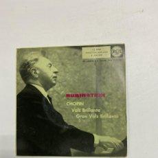 Discos de vinilo: ARTURO RUBINSTEIN - CHOPIN. VALS BRILLANTE. GRAN VALS BRLLANTE. MADRID, 1959.. Lote 229323730