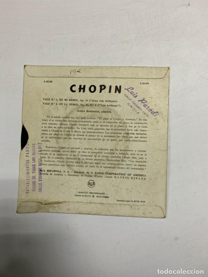 Discos de vinilo: ARTURO RUBINSTEIN - CHOPIN. VALS BRILLANTE. GRAN VALS BRLLANTE. MADRID, 1959. - Foto 2 - 229323730