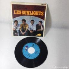 Discos de vinilo: SINGLE LES SUNLIGHTS -- EL DESERTOR HA TERMINADO -- SIN AMIGOS EL GALEOTE -- VG+. Lote 229374410