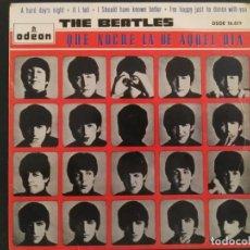 Discos de vinilo: EP-THE BEATLES-QUE NOCHE LA DE AQUEL DIA-1964-SPAIN-. Lote 229399255