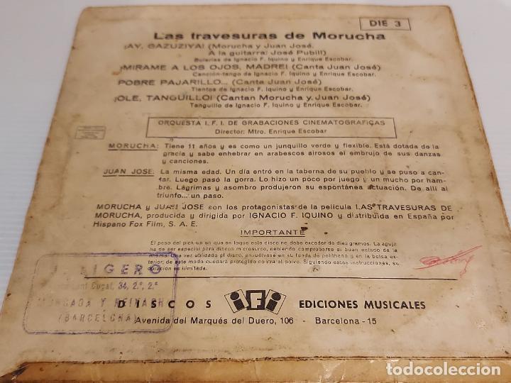 Discos de vinilo: LAS TRAVESURAS DE MORUCHA / EP - IFI-1962 / VINILO DE BUENA CALIDAD.**/*** - Foto 2 - 229406570