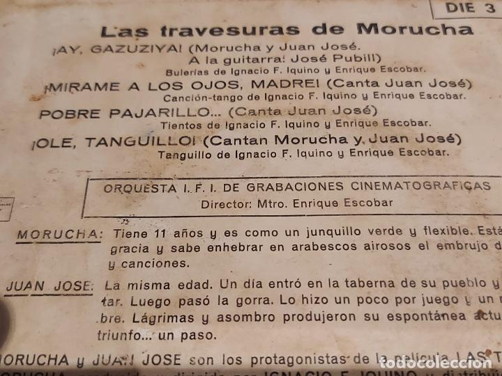 Discos de vinilo: LAS TRAVESURAS DE MORUCHA / EP - IFI-1962 / VINILO DE BUENA CALIDAD.**/*** - Foto 3 - 229406570