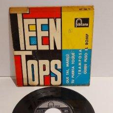 Discos de vinilo: TEEN TOPS / QUE TAL, MARILÚ / EP - FONTANA-1962 / MBC. **/***. Lote 229410370