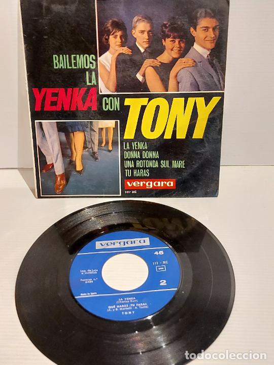 BAILEMOS LA YENKA CON TONY / EP - VERGARA-1965 / MBC. ***/*** (Música - Discos de Vinilo - EPs - Solistas Españoles de los 50 y 60)