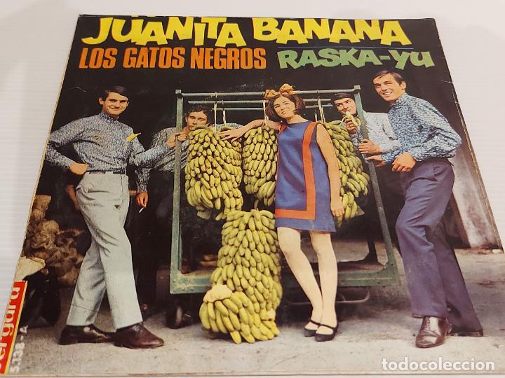 Discos de vinilo: LOS GATOS NEGROS / JUANITA BANANA / SINGLE - VERGARA-1966 / MBC. ***/*** - Foto 2 - 229413840