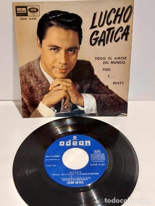 LUCHO GATICA / TODO EL AMOR DEL MUNDO / EP - ODEON-1961 / MBC. ***/*** (Música - Discos de Vinilo - EPs - Grupos y Solistas de latinoamérica)