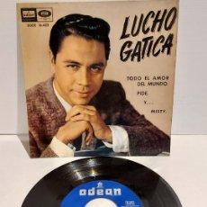 Discos de vinilo: LUCHO GATICA / TODO EL AMOR DEL MUNDO / EP - ODEON-1961 / MBC. ***/***. Lote 229414525