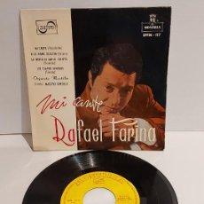 Discos de vinilo: RAFAEL FARINA / MI CANTE / EP - MONTILLA-1959 / MBC. ***/***. Lote 229425965