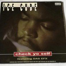 Discos de vinilo: ICE CUBE FEATURING DAS EFX - CHECK YO SELF - 1993. Lote 269042628