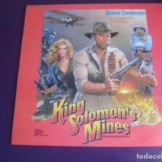 Disques de vinyle: JERRY GOLDSMITH - KING SOLOMON'S MINES - BSO CINE MINAS REY SALOMON - LP RESTLESS 1985 - NUEVO. Lote 229442080