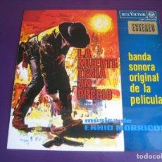 Disques de vinyle: ENNIO MORRICONE - LA MUERTE TENIA UN PRECIO + POR UN PUÑADO DE DOLARES LP RCA - BSO CINE - POCO USO. Lote 229442510