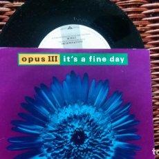 Disques de vinyle: SINGLE ( VINILO) DE OPUS III AÑOS 90. Lote 229495680