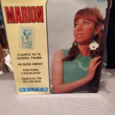 Discos de vinilo: MARION CUANTO YO TE QUIERO , UN BUEN AMIGO + 2 IV FESTIVAL CANCION MALLORCA BELTER 1967. Lote 229512365