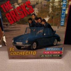 Discos de vinilo: THE BRISKS: EL COCHECITO, ESPERANDO, POR TU AMOR, UN NUEVO AMOR EP BELTER. Lote 229513005